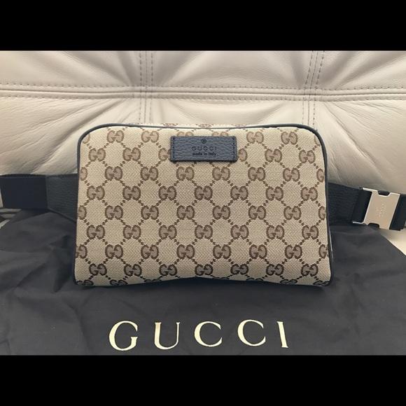 05885a7f695a13 Gucci Bags | Gg Canvas Zip Top Belt Bag Style 449174 | Poshmark